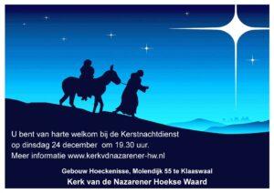 Uitnodiging kerstnachtdienst