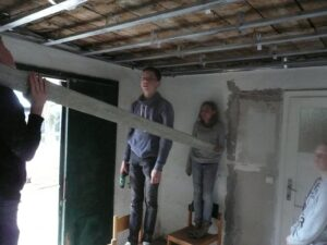 'Onze' ruimte in aanbouw